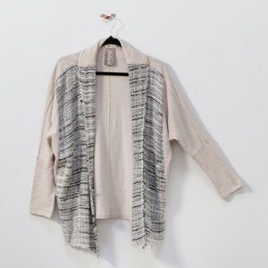 Anthropologie Dolan Left Coast Knit Beige Cardigan